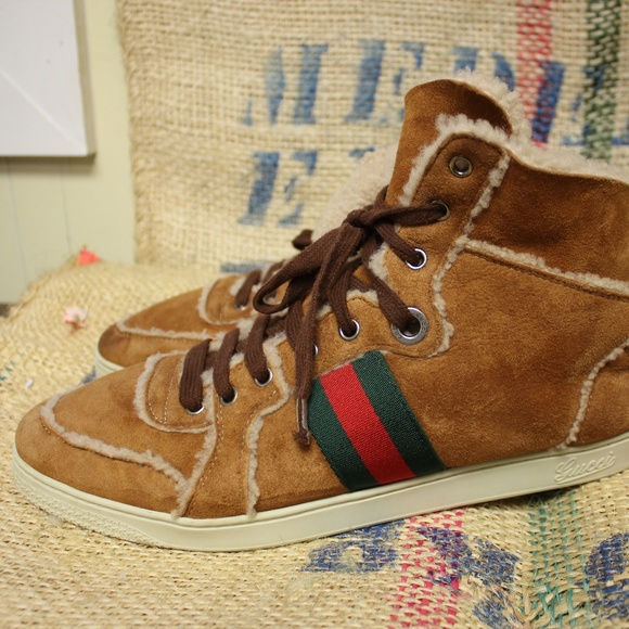 af333611161 Gucci Other - RARE Gucci suede   shearling sneakers
